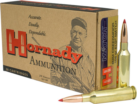 Hornady Ammo 6mm Creedmoor 108gr. Eld Match 20-Pack