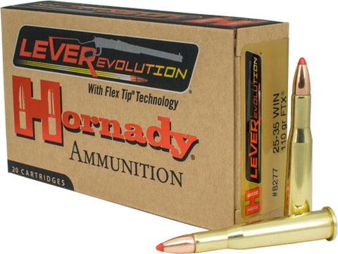Hornady Ammo Leverevolution 25-35 Win 110gr. FTX 20-Pack