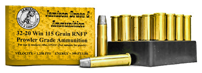 Jamison Ammo .32-20 Winchester 115Gr Lead-RNFP 20-Pack