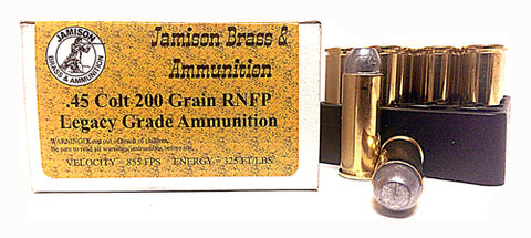 Jamison Ammo .45 Long Colt 200Gr Lead-RNFP 20-Pack