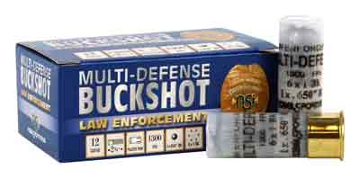 Nobelsport Ammo 12Ga. Multi- Defense Buckshot & .650Rb 10Pack