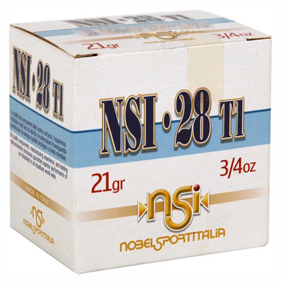 "Nobelsport Ammo 28Ga. 2.75"" 1200fps. 3/4oz. #9 25-Pack"