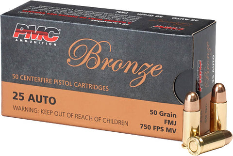 Pmc Ammo .25ACP 50gr. FMJ-RN50-Pack