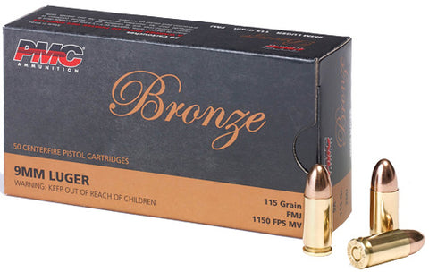 Pmc Ammo 9mm Luger 115gr. FMJ-RN50-Pack