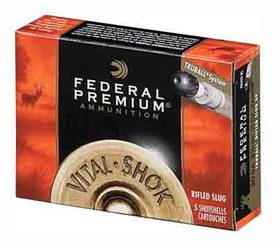 "Federal Ammo Premium Truball Slug 20Ga 2.75"" 1600fps. 3/4oz. 5Pack"