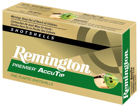 "Remington Ammo Premier Accutip Slug 12Ga. 3"" 1900fps. 385gr. 5-Pack"
