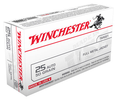 Winchester Ammo Usa .25ACP 50gr. FMJ-RN50-Pack