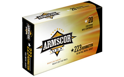 Armscor 223 Rem, 55 Grain, Full Metal Jacket, 20 Round Box FAC223-1N
