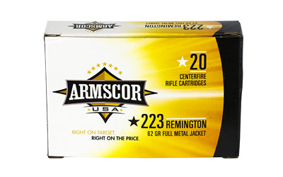 Armscor 223 Rem, 62 Grain, Full Metal Jacket, 20 Round Box FAC223-8N