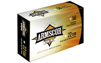Armscor 22TCM, 40 Grain, Jacketed Hollow Point, 50 Round Box FAC22TCM-1N
