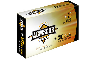 Armscor 300 AAC Blackout, 147 Grain, Full Metal Jacket, 20 Round Box FAC300AAC-1N