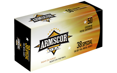 Armscor 380ACP, 158 Grain, Full Metal Jacket, 50 Round Box FAC38-17N