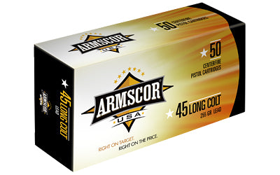 Armscor 45LC, 255 Grain, Lead, 50 Round Box FAC45LC-1N