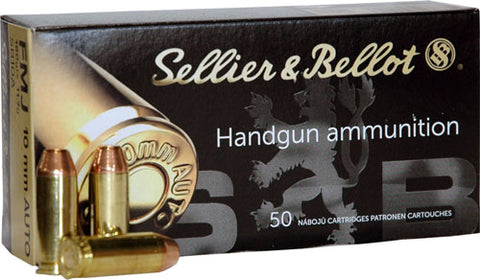 S&B Ammo 10mm 180gr. FMJ 50-Pack
