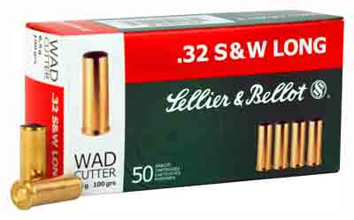 S&B Ammo .32Sw Long 100gr. Lead-Wad Cutter 50 Pack