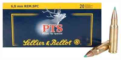 S&B Ammo 6.8mm Rem Spc 110gr. Pts 20-Pack