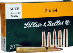 S&B Ammo 7mm Remington Magnum 173gr. SPCE 20-Pack