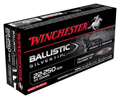 Winchester Ammo Supreme .22-250 20-Pack 55gr. Ballistic Silver-Tip