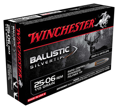 Winchester Ammo Supreme .25-06 20-Pack 115gr. Ballistic Silver-Tip