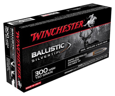 Winchester Ammo Supreme .300Wsm 20-Pack 150gr. Ballistic Silver-Tip
