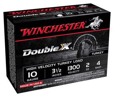 "Winchester Ammo Supreme Turkey 10Ga. 3.5"" 1300fps. 2oz. #4 10-Pack"