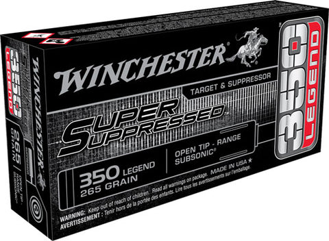 Win Ammo Super Suppressed .350 Legend 265Gr. Fmj 20-Pack Sup350