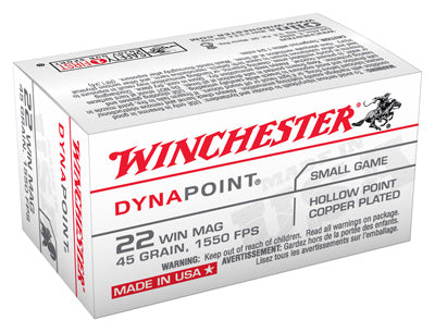 Winchester Ammo Dynapoint .22Wrm 1550fps. 45gr. Dynapoint 50-Pack