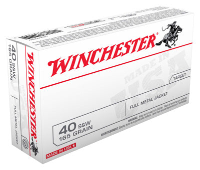 Winchester Ammo Usa 40Sw 165gr. FMJ Truncated Cone 50-Pack