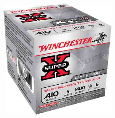 "Winchester Ammo Xpert Steel .410 3"" 1400fps. 3/8oz. #6 25-Pack"