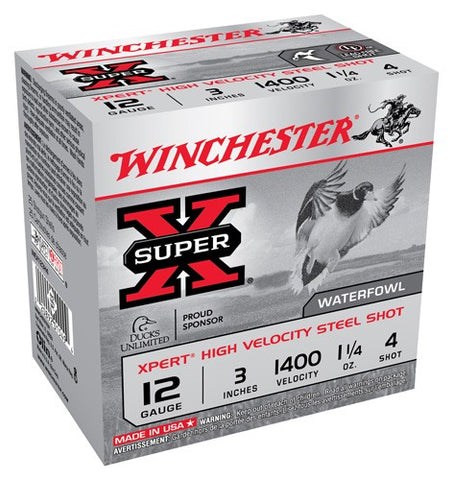 "Winchester Ammo Xpert Steel 12Ga. 3"" 1400fps. 1-1/4oz. #4 25-Pack"