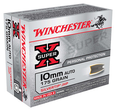 Winchester Ammo Super-X 10mm Auto 175gr. Silvertip JHP 20-Pack
