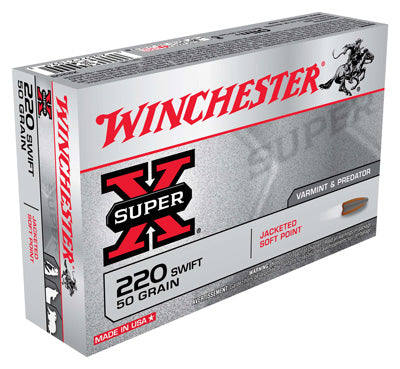 Winchester Ammo Super-X .220 Swift 50gr. JSP 20-Pack