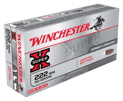 Winchester Ammo Super-X 222 Remington 50gr. JSP 20-Pack