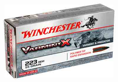 Winchester Ammo Varmint-X .223 Rem. 55gr. Polymer Tipped 20-Pack