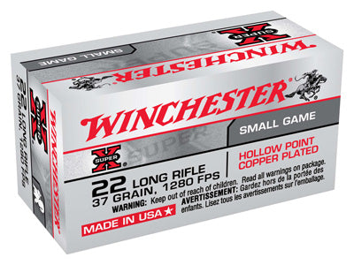 Winchester Ammo Super-X .22LR 1280fps. 37gr. Lead-HP 50-Pack