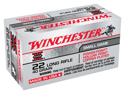 Winchester Ammo Super-X .22LR 50-Pack 1280fps. 40gr. Power Point HP