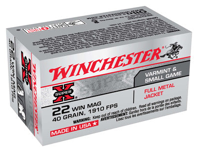 Winchester Ammo Super-X .22Wmr 1910fps. 40gr. FMJ 50-Pack