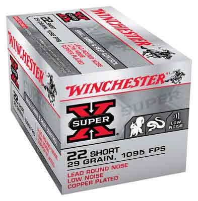 Winchester Ammo Super-X .22 Short 1095fps. 29gr. Lead RN50-Pack