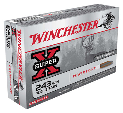 Winchester Ammo Super-X .243 Win. 100gr. Power Point 20-Pack