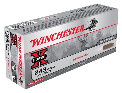 Winchester Ammo Super-X .243Wssm 100gr. Power Point 20-Pack