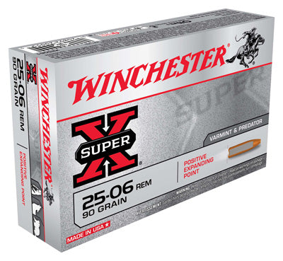 Winchester Ammo Super-X .25-06 Rem. 90gr. Expanding Point 20-Pack