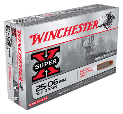 Winchester Ammo Super-X .25-06 Rem. 120Gr Expanding Point 20-Pack