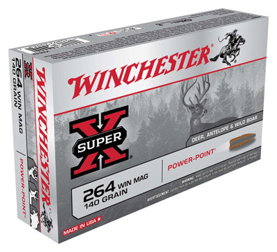 Winchester Ammo Super-X .264Wm 140gr. Power Point 20-Pack