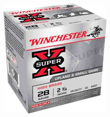 "Winchester Ammo Super-X 28Ga. 2.75"" 1205fps. 1oz. #8 25-Pack"