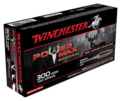 Winchester Ammo Power Max .300Wsm 150gr. Power Max Bonded 20-Pack