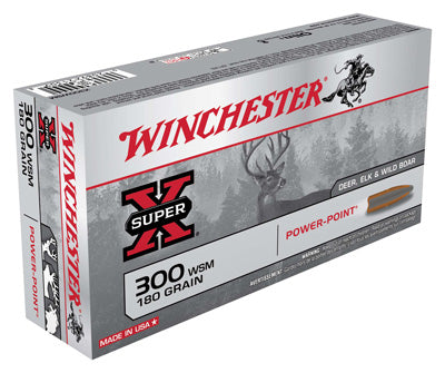 Winchester Ammo Super-X .300Wsm 180gr. Power Point 20-Pack