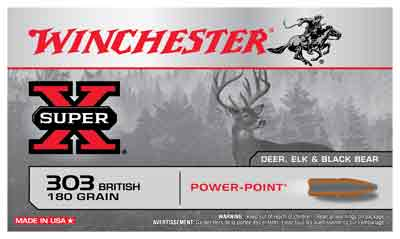Winchester Ammo Super-X .303 British 180gr. Power Point 20-Pack