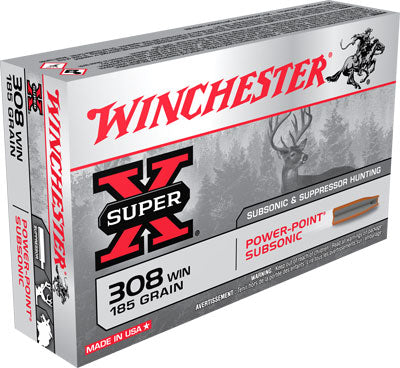 Winchester Ammo Super-X Subsonic .308 185gr. Expanding HP 20-Pack