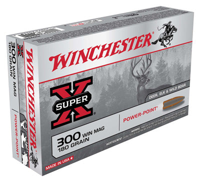 Winchester Ammo Super-X .300Wm 180gr. Power Point 20-Pack
