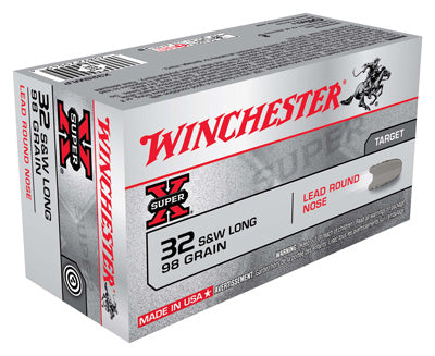 Winchester Ammo Super-X .32 S&W Long 98gr. Lead-RN50-Pack